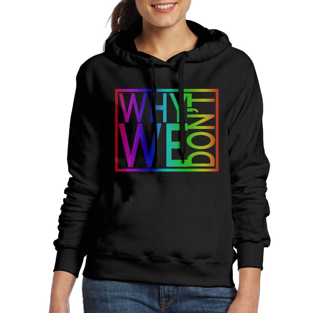 Candace Nixon Why Don't We Logo Womens Vintage Hooded Young Sports Sweater Black