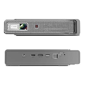TOUMEI V5 Proyector de video portátil, LED 3800 Lumens 1280x800 3D ...
