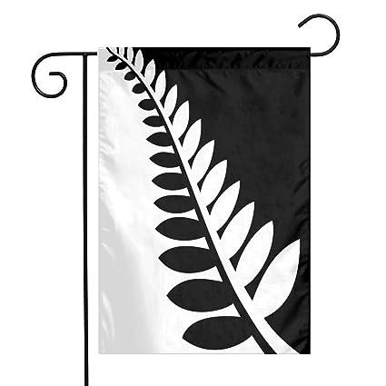Amazon com : FZ-Kimrio NZ Flag Silver Fern Black & White Garden