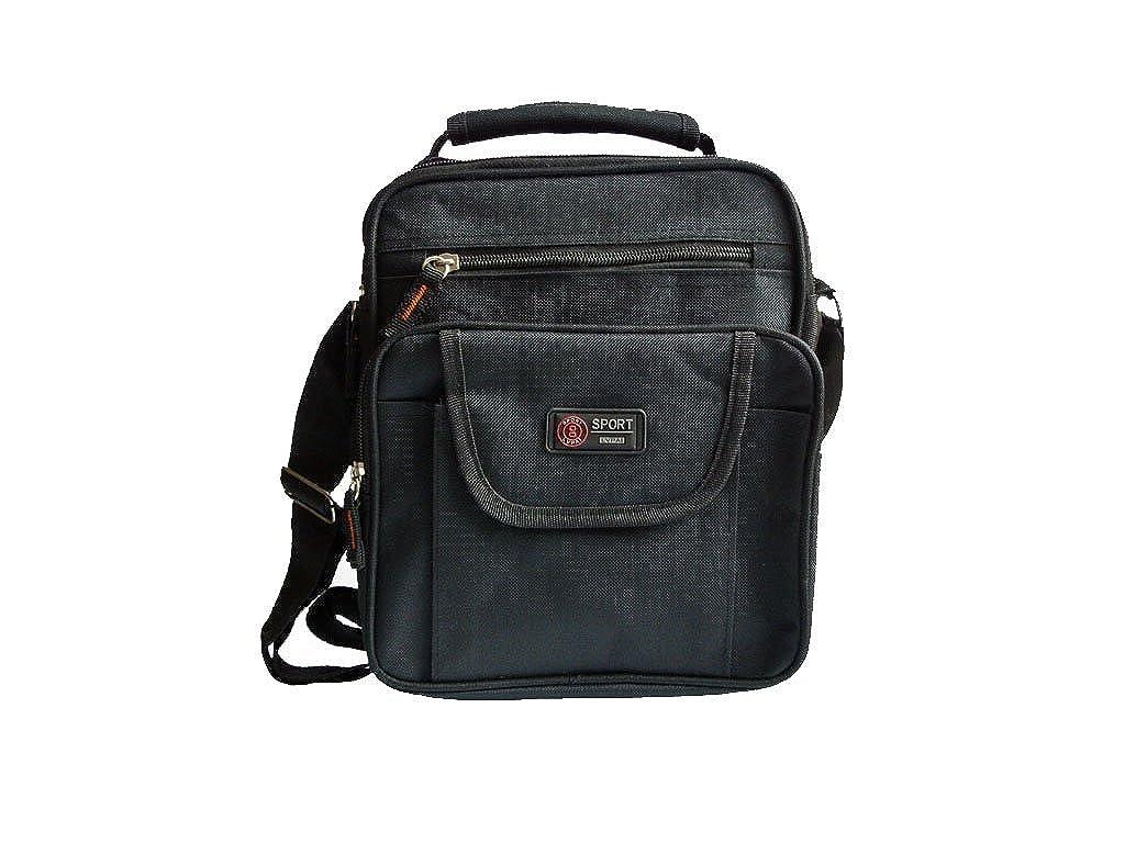 9a61502960819 pwshop24 Vielseitiges Messenger Hochformat Bag Schwarz Trage Schulter  Umhänge Tasche  Amazon.de  Schuhe   Handtaschen