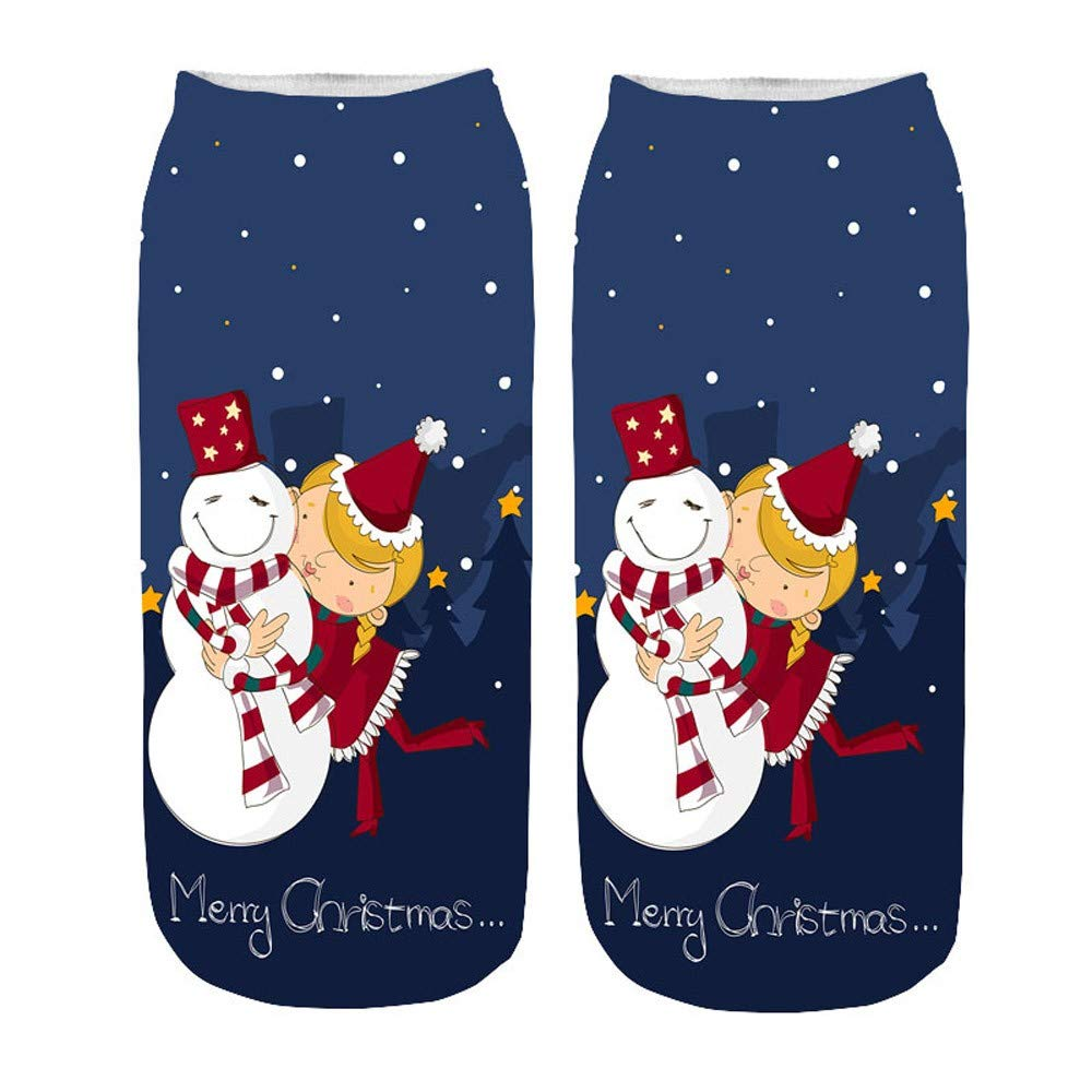 GzxtLTX Ankle Socks Christmas Cartoon Christmas Funny Pattern Printed Christmas