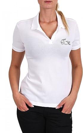 Lacoste Live Mujer de Polo Camiseta Femenina Col Bord de Cotes ...