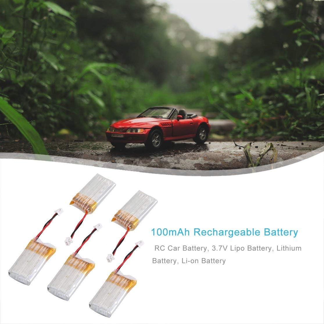 Multicolor Kaemma 3.7V 100mAh Rechargeable Battery Lipo Battery RC Lithium Battery Li-on Battery for Mini 1//28 Mosquito Car RC Car Set