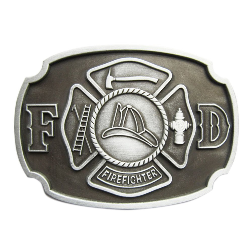 New Vintage Fire Hero Firefighter FD Belt Buckle Gurtelschnalle