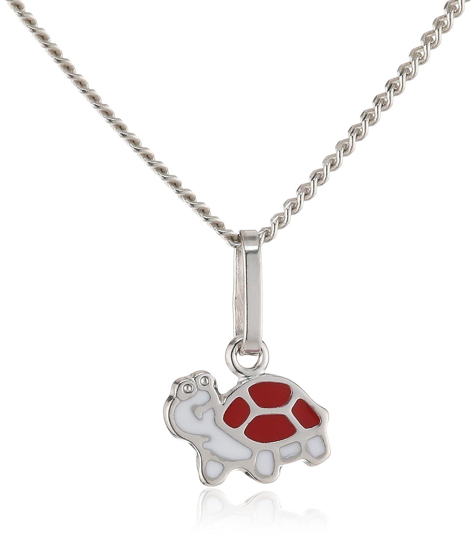 ZEEme Kinder und Jugendliche Halskette 925 Sterling Silber rhodiniert Acryl 500244635-1