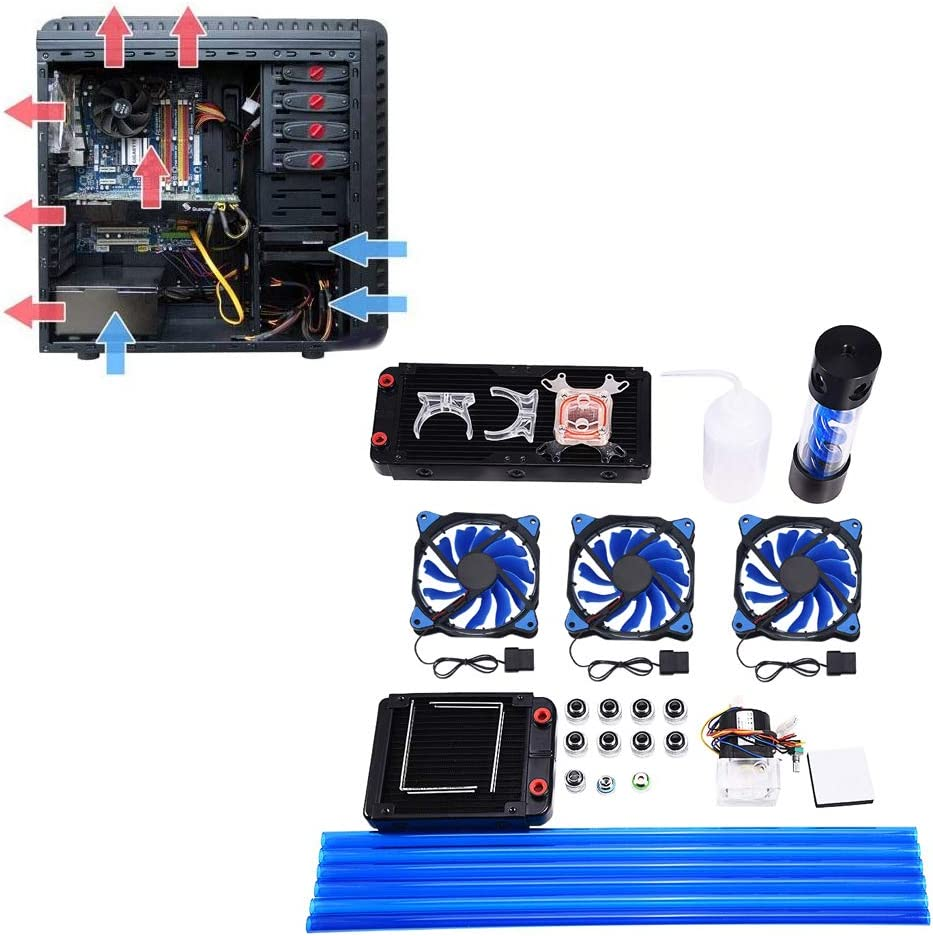 120//240mm Heat Sink CPU Water Block Pump Reservoir LED Fan Compputer Water Cooling Kit Wendry DIY Computer Water Cooling Kit