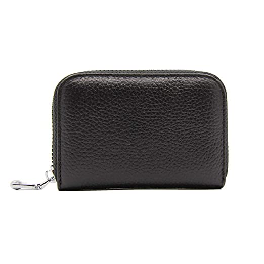 e853fe802d56 Women Leather Credit Card Holder Zipper Men Money Case Business Card ...