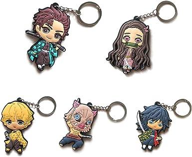 Kimetsu no Yaiba Keychains Anime Cartoon Characters Pendant Hanging Ornament Gift Fuguan Demon Slayer Keychain