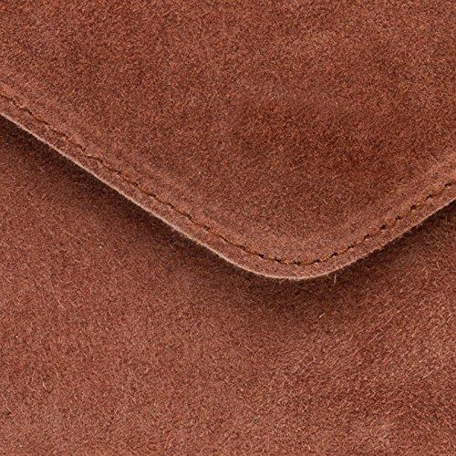 Vecchia Pelle Cintura Scamosciata Borsa Vacanza Donne Rossa Elegante In Tl708 Caspar Frizione Uvqx8x7