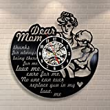 Jedfild The lovely art wall clock mother