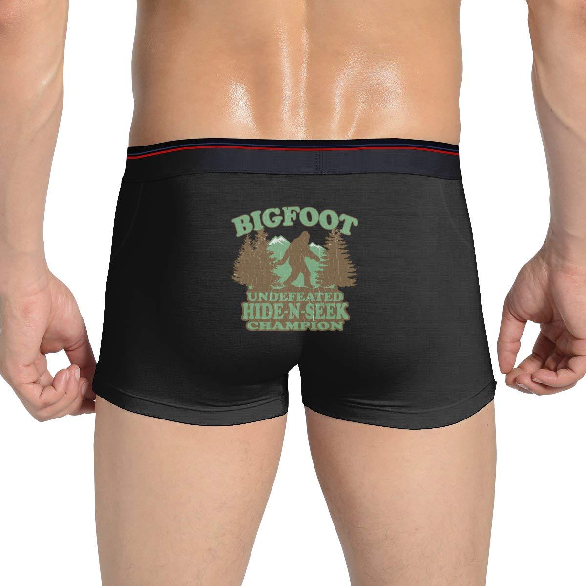 Bigfoot Hide-N-Seek Man Underwear Soft Boxer Brief SY COMPACT Funny
