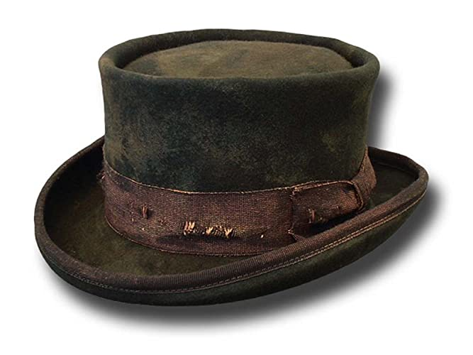 196bdbbcefc610 Amazon.com: Western Desert Rat Aged Top Hat Dark gray: Handmade