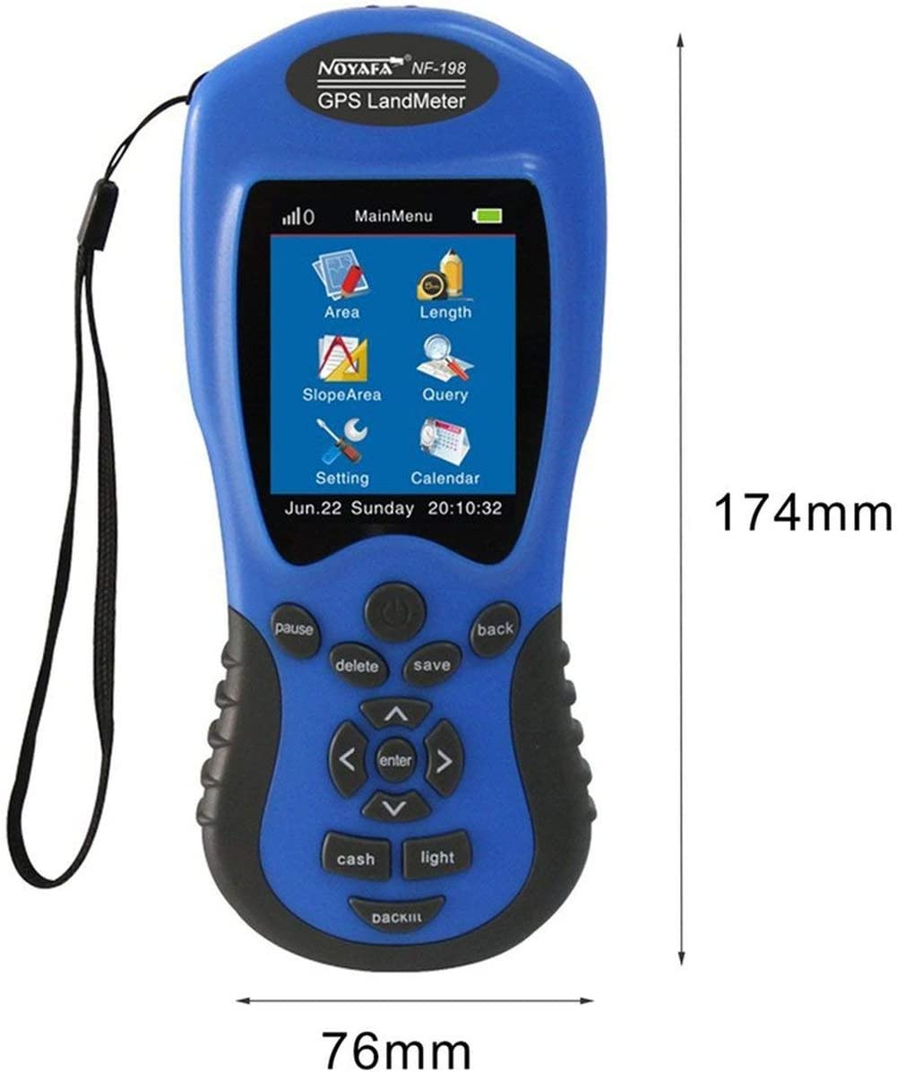 Ballylelly pour NF-198 Dispositifs de Test GPS Compteur de Terrain GPS /Écran LCD Valeur de Mesure Figure Arpentage et Mesure des Terres agricoles Mesure