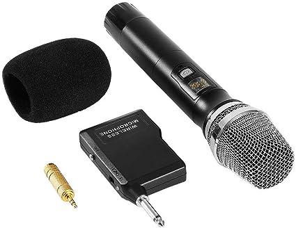 KABELLOS WIRELESS VHF MIKROFON STUDIO REDE HANDHELD MIKROPHON MIC+USB Empfänger