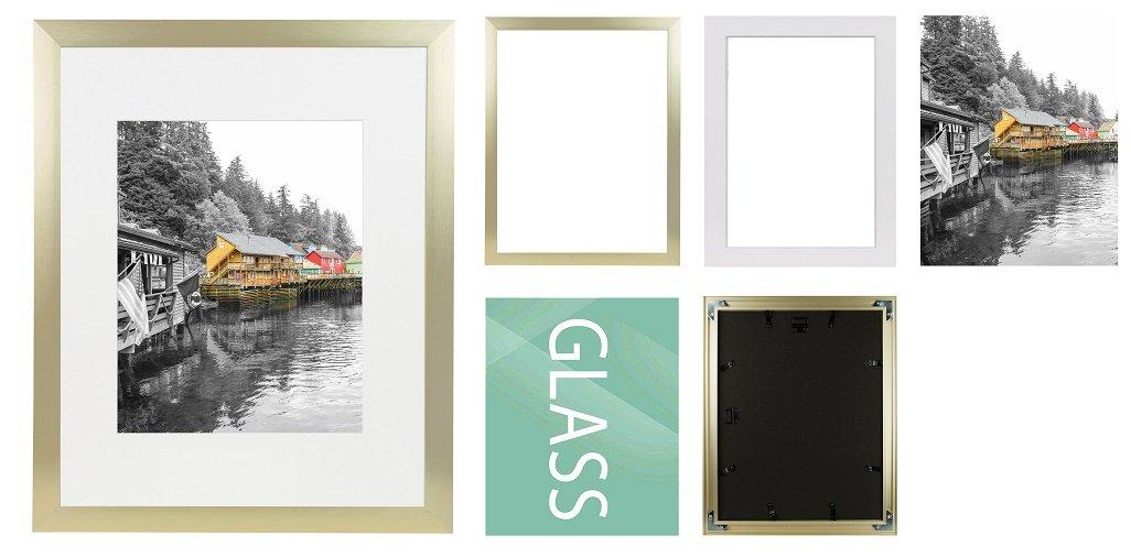 Golden State Art Gold Color Satin Aluminum Landscape Or