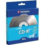 Verbatim CD-R 700MB 80 Minute 52x Recordable Disc - 10 Pack Bulk Box