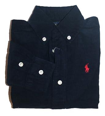 4572c6c0c Polo Ralph Lauren Kids Childrens Boys Corduroy Winter Shirt Long Sleeve  Navy F52 (2 Years)  Amazon.co.uk  Clothing