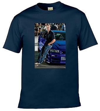 39f63e8d0 Amazon.com: ALVA DIY tshirt Men's T-shirts Paul Walker(XXXL-Blue): Clothing