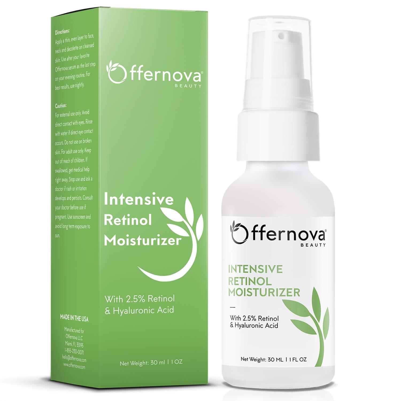 Retinol Moisturizer with Hyaluronic Acid - Crema para arrugas y manchas
