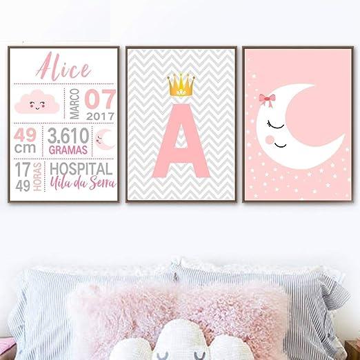 Personalizado Niños Bebé Nacimiento Estadísticas Cumpleaños ...