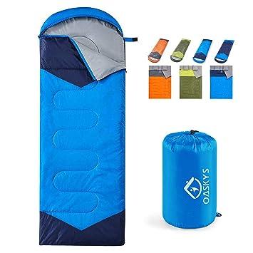 Amazon.com: Oaskys Saco de dormir para acampada, 3 ...