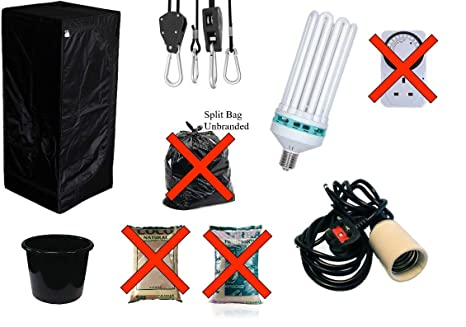Image Unavailable  sc 1 st  Amazon UK & Best Complete Hydroponic Small Grow Room Tent Canna CFL Light Kit ...