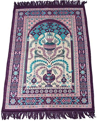 Sajda Rugs Muslim Prayer Rug - Islamic Janamaz Sajadah Namaz Sajjadah Best Quality Turkish Prayer Mat Carpet (Purple)