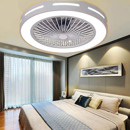 YI KUI Fan Lights 22 Pulgadas Redonda Lamparas de Techo Ventilador ...