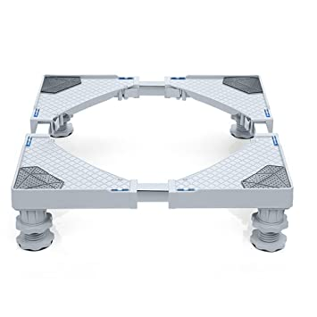 LongYu Muebles telescópicos Base Móvil Multifuncional Dolly Roller Ajustable con 4 pies giratorios Ajustables de Goma