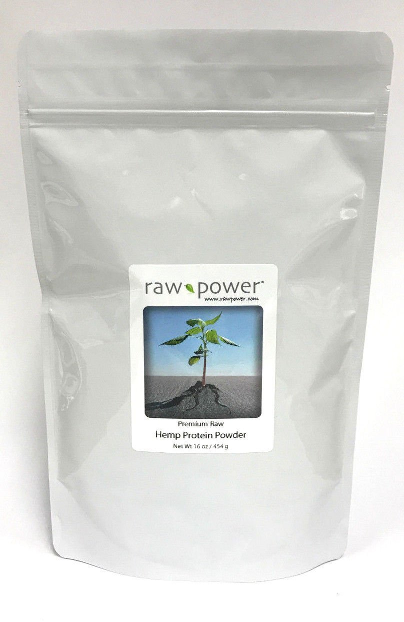 Hemp Protein Powder, Raw Power 16 oz, 100 raw, premium