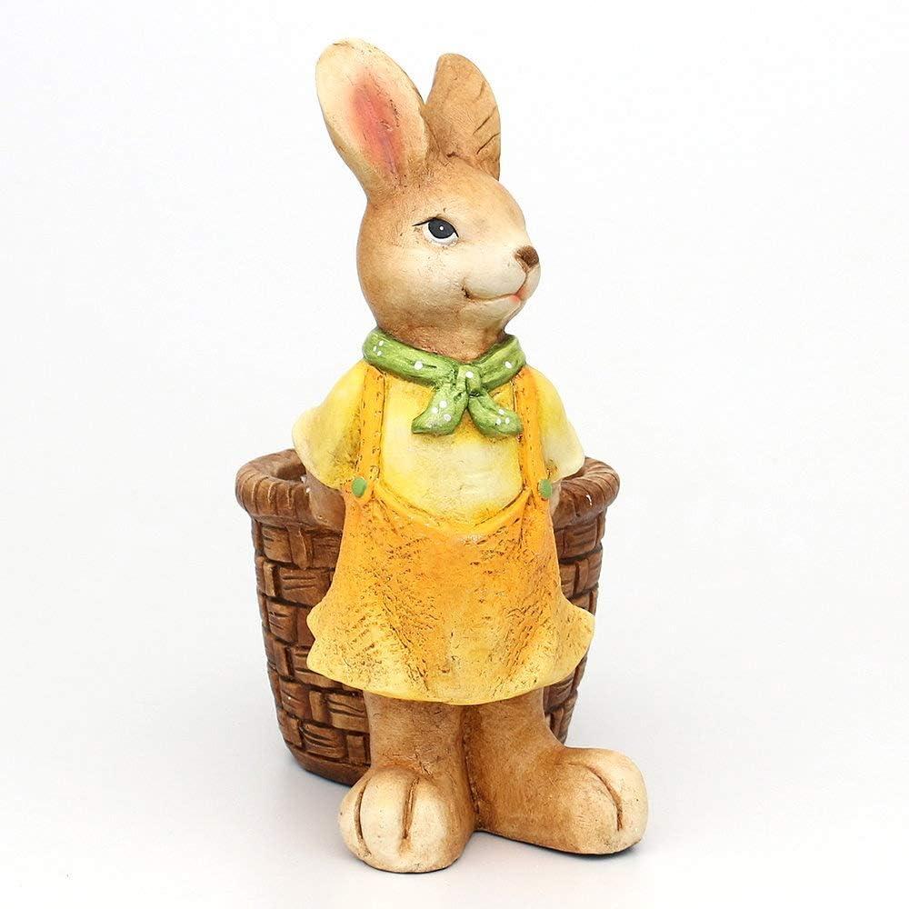 Sehr Großer Hase Rabbit 28 x 28 cm Silber Sitzend Figur Dekoration Osterhase