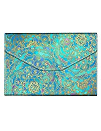 Fintie - portafolios multiusos para pasaporte, triple pliegue, bloqueo RFID, organizador de documentos de viaje, azul, (Z-Shades of Blue), 7.59x 5.7 inches