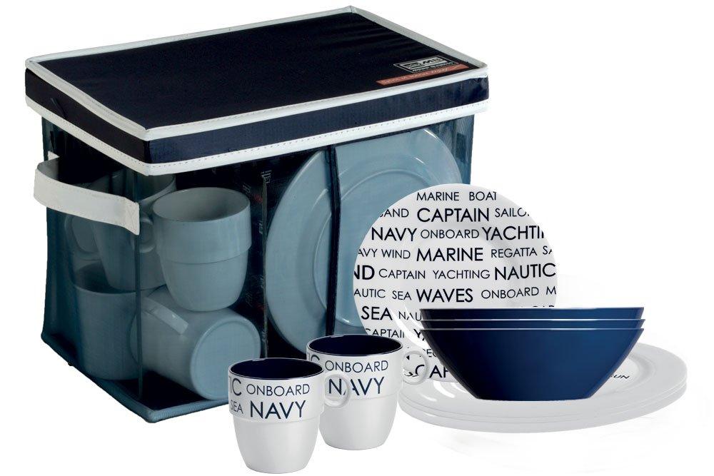 Bootsgeschirr Campinggeschirr Marine Business Geschirrset 24 tlg. Sea bootsshop in Bad Ischl Edition