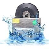 CGOLDENWALL  超音波レコード洗浄機6L 自動回転110v ブラケット付き 12インチと7インチのレコードに最適  タイマー ヒーター付き (洗浄機+ブラケット)