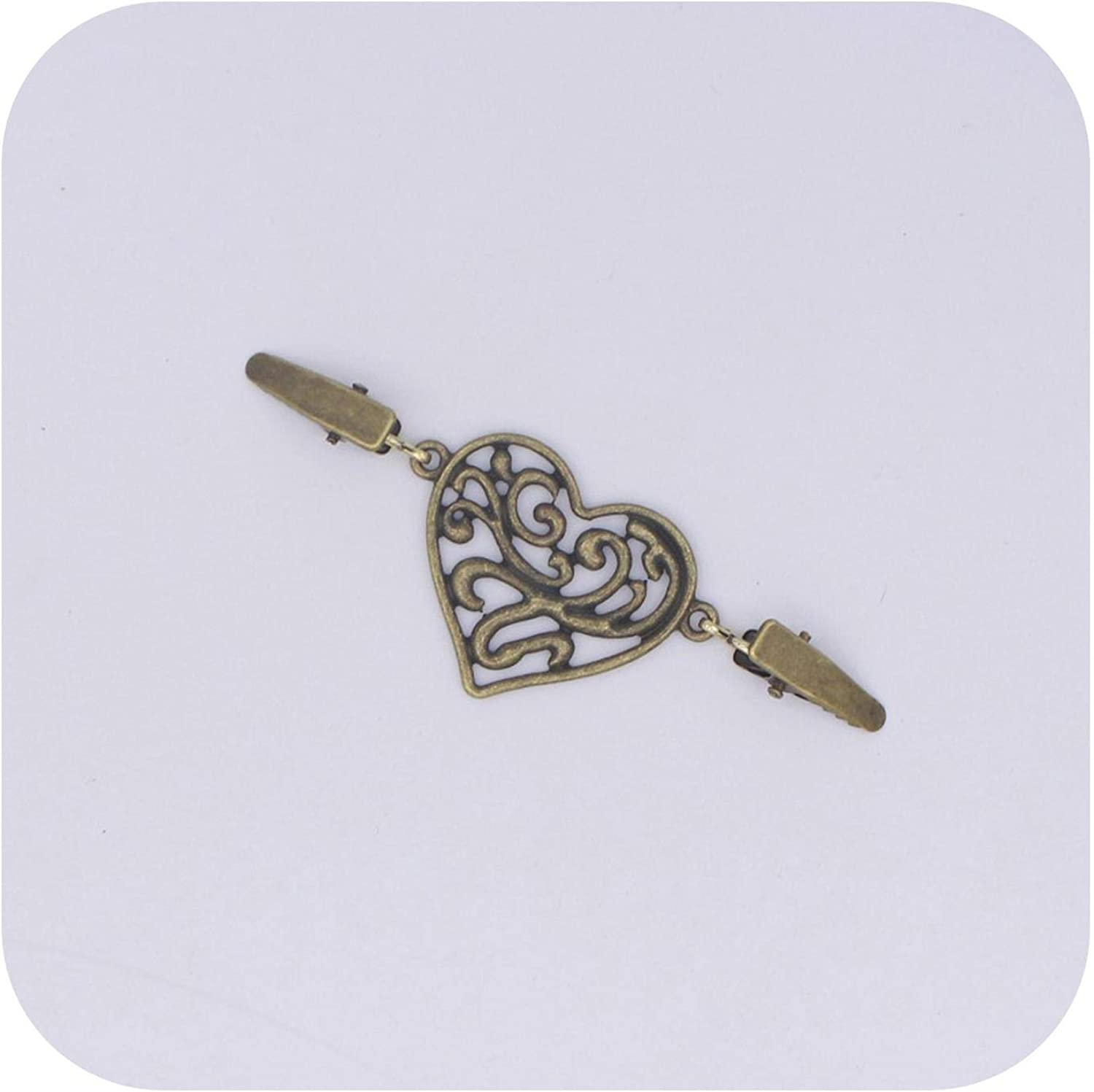 Gold Silver Color Duck Clips Flexible Beaded Pearl Pin Brooch Shawl Shirt Sweater Cardigan Collar Clip Buckles Clothing