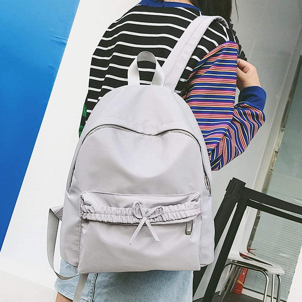 Mayanyan The Korean Version of The Pure Color Backpack Small Fresh Ladies Backpacks Butterfly Knot Leisure Bag