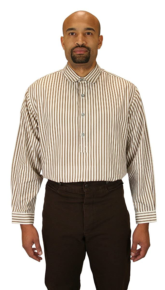 Victorian Men's Shirts- Wingtip, Gambler, Bib, Collarless Club Collar Dress Shirt $59.95 AT vintagedancer.com