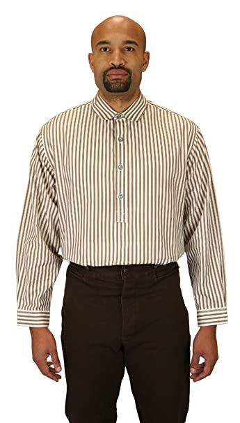 Victorian Men's Shirts- Wingtip, Gambler, Bib, Collarless Mens Coulter Edwardian Club Collar Dress Shirt $59.95 AT vintagedancer.com