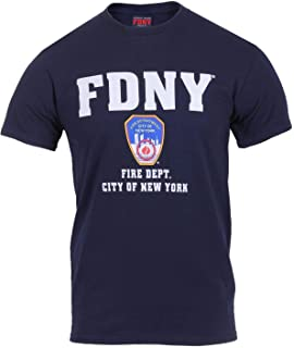 730e6acc4 FDNY Fire Department City of New York Navy Blue T Shirt Mens Casual Tee  Shirt Summer Fashion…