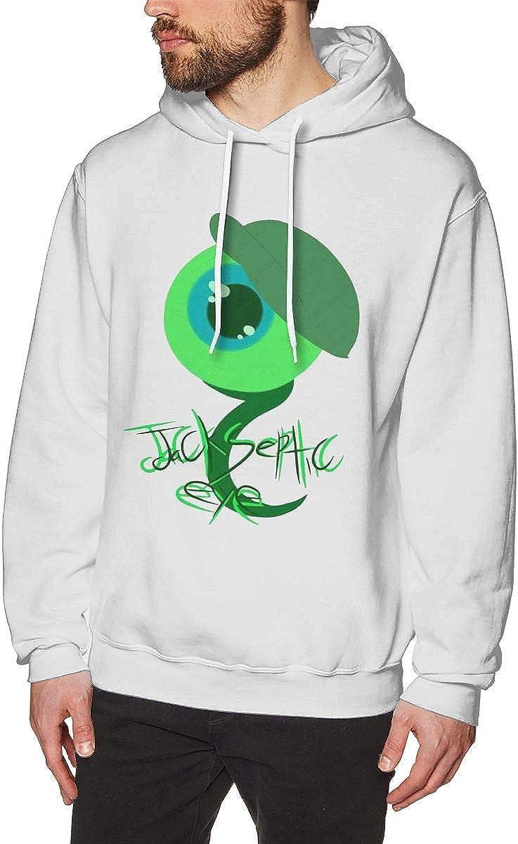 Mens Hooded Sweatshirt Jack Septic Eye1 Classical Elegance and Originality White