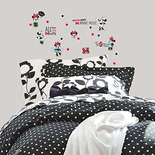 Roommates RMK3257SCS Minnie Rocks The Dots Peel & Stick Wall Decals,
