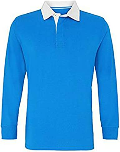 Asquith & Fox Mens Classic Fit Long Sleeve Vintage Rugby Shirt Camisa Manga Larga, Multicolor (Sapphire/Natural 000), Medium para Hombre: Amazon.es: Ropa y accesorios