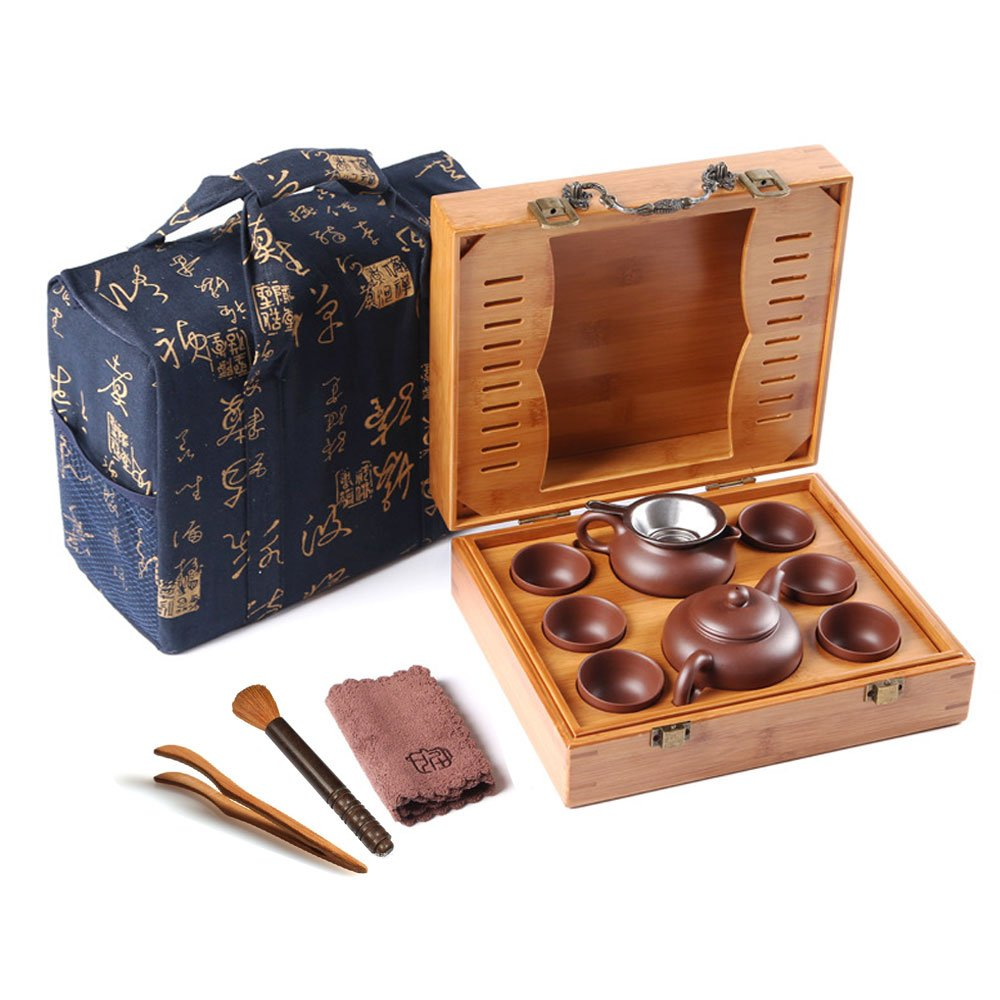 Home tea(TM) Chinese zisha Kungfu Tea set portable outdoor travel tea set by Home tea (Image #1)