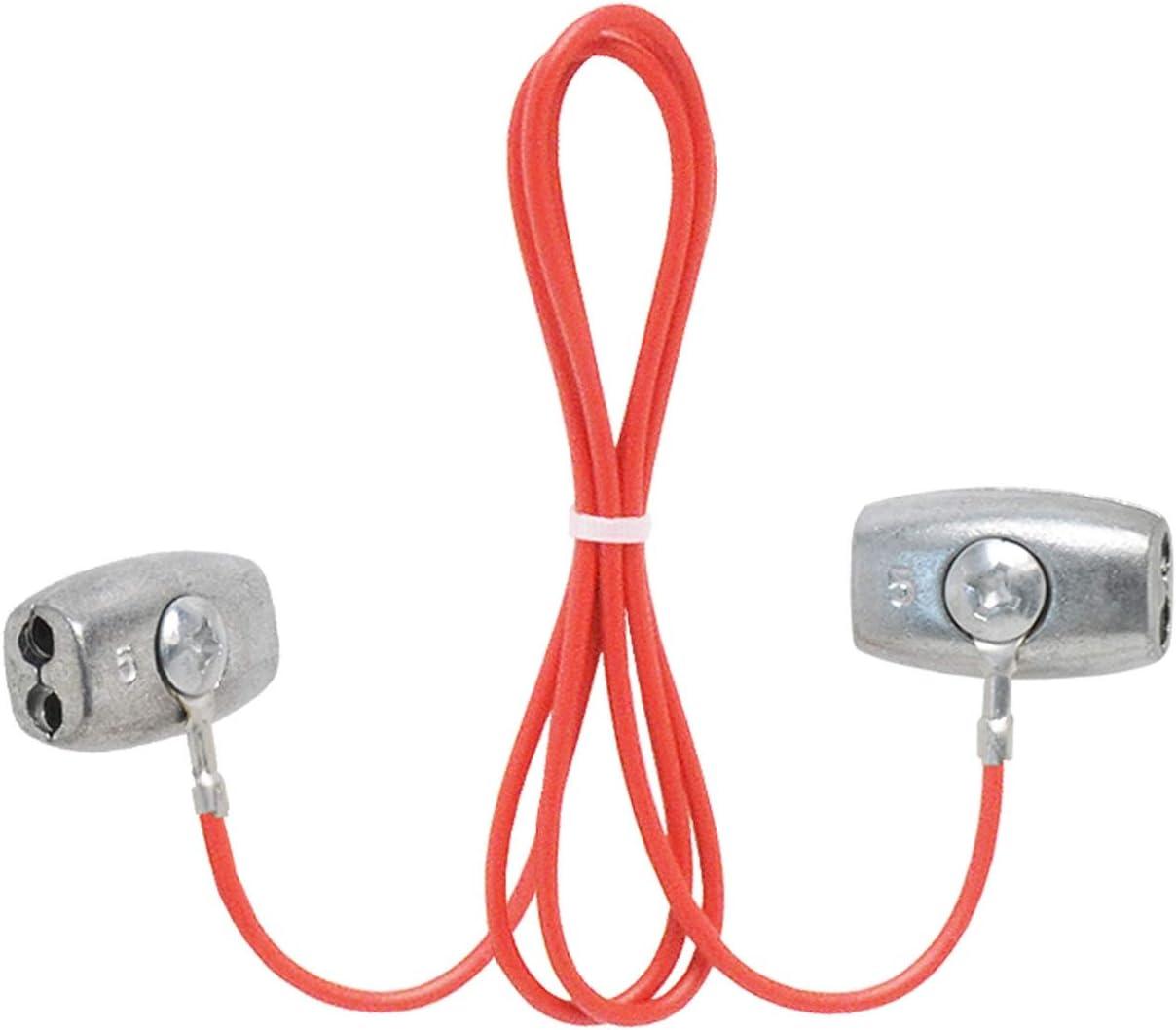 Lunghezza 130 cm VOSS.farming Connettori per Corde con Cavo recinzioni elettriche