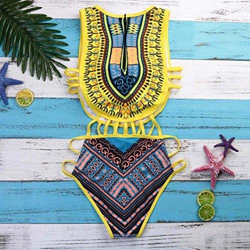 De Maillot Rétro Push Femme Fille Up Imprimé Bikini Bain Piece Angelof Ado 1 Amincissant Jaune Rembourre Africain OcqTXWg