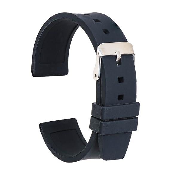 3d44c0df7 Ullchro Correa Reloj Calidad Alta Recambios Correa Relojes Caucho Suave  Flexible Hombre Mujer - 16,