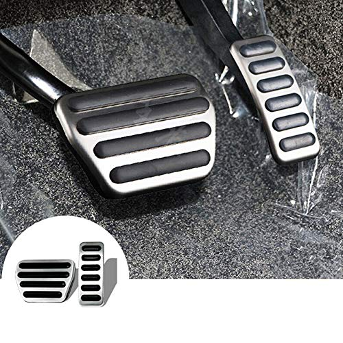 HOTRIMWORLD at Brake Accelerator Pedal Gas Pedal Pad Cover 2pcs for Land Rover Range Rover Sport 2014-2019