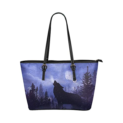 4a99615ccfb3 Custom Unique Howling Wolf Women's High-grade PU leather Leather ...