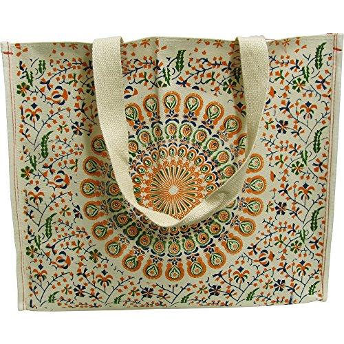 durable-indian-ethnic-peacock-natural-cotton-large-reusable-shopping-tote-bag