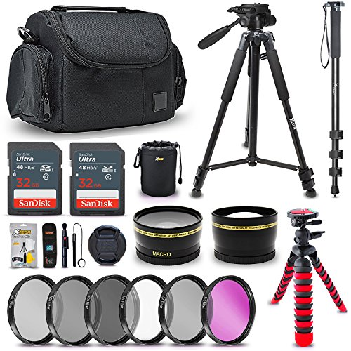 Ultimate 52MM Accessory Bundle Kit for Nikon D500 D750 D850 D3100 D3200 D3300 D5000 D5100 D5200 D5300 D5500 D7000 D7100 D7200 D7500 D800 D810 D610 DSLR Cameras, Top Photography Accessories for Nikon
